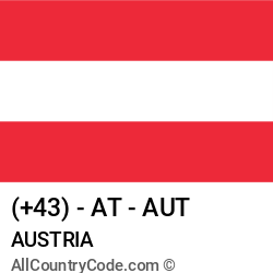Austria Country and phone Codes : +43, AT, AUT