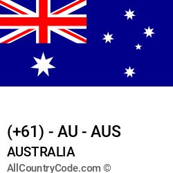 Australia Country and phone Codes : +61, AU, AUS