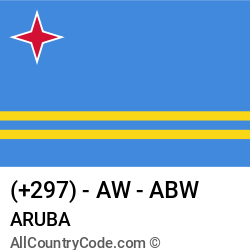 Aruba Country and phone Codes : +297, AW, ABW
