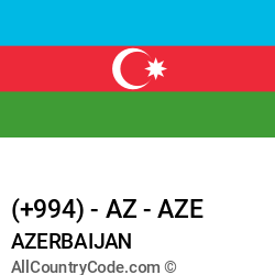 Azerbaijan Country and phone Codes : +994, AZ, AZE