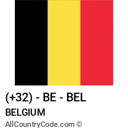 Belgium Country and phone Codes : +32, BE, BEL