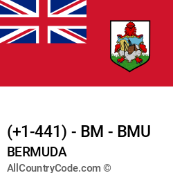 Bermuda Country and phone Codes : +1-441, BM, BMU