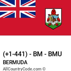 Bermuda Country and phone Codes : +1-441, BM, BMU