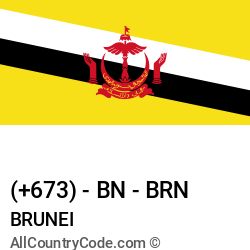 Brunei Country and phone Codes : +673, BN, BRN