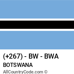 Botswana Country and phone Codes : +267, BW, BWA