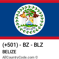 Belize Country and phone Codes : +501, BZ, BLZ