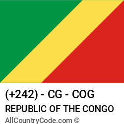 Republic of the Congo Country and phone Codes : +242, CG, COG