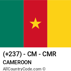 Cameroon Country and phone Codes : +237, CM, CMR