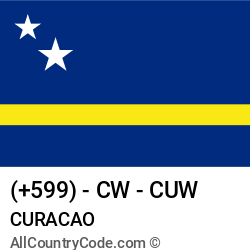 Curacao Country and phone Codes : +599, CW, CUW