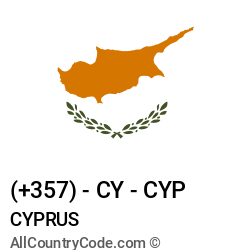 Cyprus Country and phone Codes : +357, CY, CYP