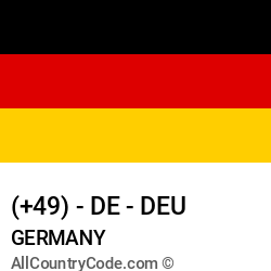 Germany Country and phone Codes : +49, DE, DEU