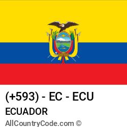 Ecuador Country and phone Codes : +593, EC, ECU