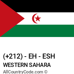 Western Sahara Country and phone Codes : +212, EH, ESH