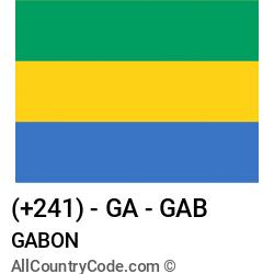 Gabon Country and phone Codes : +241, GA, GAB
