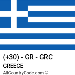 Greece Country and phone Codes : +30, GR, GRC