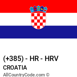 Croatia Country and phone Codes : +385, HR, HRV