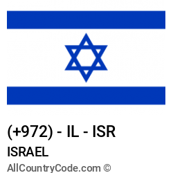 Israel Country and phone Codes : +972, IL, ISR