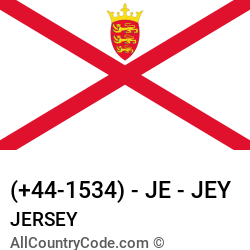 Jersey Country and phone Codes : +44-1534, JE, JEY