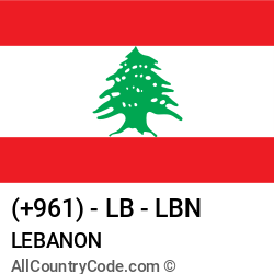 Lebanon Country and phone Codes : +961, LB, LBN