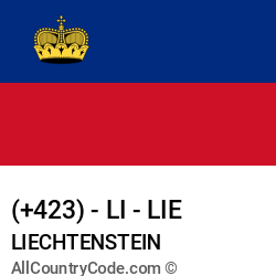 Liechtenstein Country and phone Codes : +423, LI, LIE