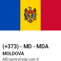 Moldova Country and phone Codes : +373, MD, MDA