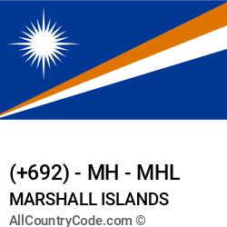 Marshall Islands Country and phone Codes : +692, MH, MHL