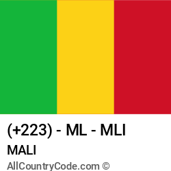 Mali Country and phone Codes : +223, ML, MLI