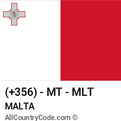 Malta Country and phone Codes : +356, MT, MLT