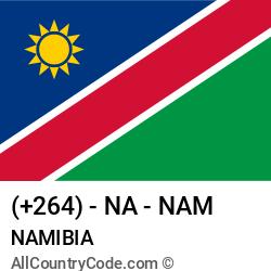 Namibia Country and phone Codes : +264, NA, NAM