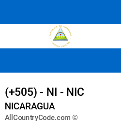 Nicaragua Country and phone Codes : +505, NI, NIC