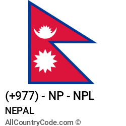 Nepal Country and phone Codes : +977, NP, NPL