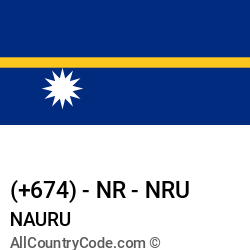 Nauru Country and phone Codes : +674, NR, NRU