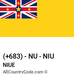 Niue Country and phone Codes : +683, NU, NIU