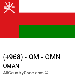 Oman Country and phone Codes : +968, OM, OMN