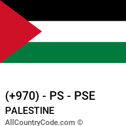 Palestine Country and phone Codes : +970, PS, PSE