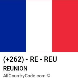 Reunion Country and phone Codes : +262, RE, REU