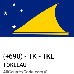 Tokelau Country and phone Codes : +690, TK, TKL