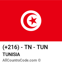 Tunisia Country and phone Codes : +216, TN, TUN