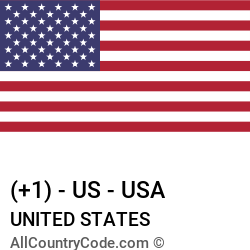 United States Country and phone Codes : +1, US, USA