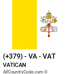 Vatican Country and phone Codes : +379, VA, VAT