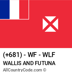 Wallis and Futuna Country and phone Codes : +681, WF, WLF