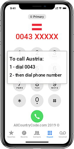 Austria 43 Country Code AT AUT