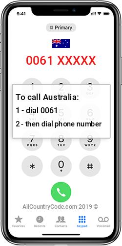 Australia 61 Country Code AU AUS