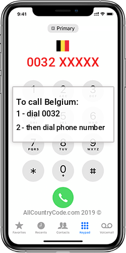 Belgium 32 Country Code BE BEL