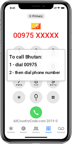 Bhutan 975 Country Code BT BTN
