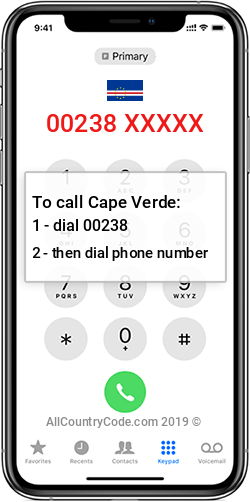 Cape Verde 238 Country Code CV CPV