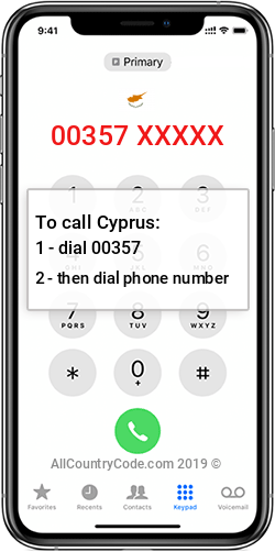 Cyprus 357 Country Code CY CYP