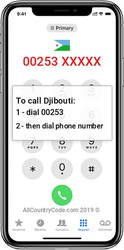 Djibouti 253 Country Code DJ DJI