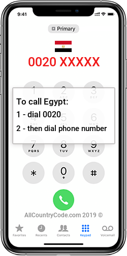 Egypt 20 Country Code EG EGY