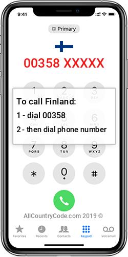 Finland 358 Country Code FI FIN